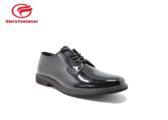 China Breathable Polizei-Lederschuhe Shineable mit Aktions-Leder/Microfiber-Oberleder distributeur